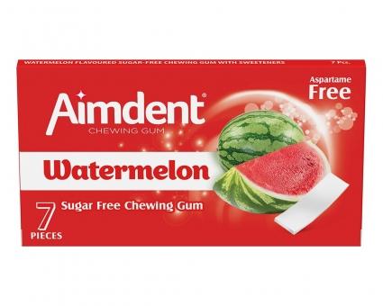 Жевательная резинка без сахара со вкусом арбуза Aimdent WATERMELON, 7 шт/уп