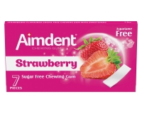 Жевательная резинка без сахара со вкусом клубники Aimdent STRAWBERRY, 7 шт/уп