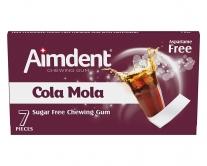 Жевательная резинка без сахара со вкусом колы Aimdent COLAMOLA, 7 шт/уп