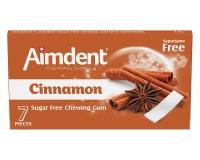 Жевательная резинка без сахара со вкусом корицы Aimdent CINNAMON, 7 шт/уп