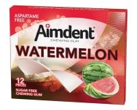 Жевательная резинка без сахара со вкусом арбуза Aimdent WATERMELON, 12 шт/уп