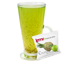 """Пюре фруктовое для чая, коктейлей """"Яблуко-Селера"""" LEMO, 45 г (премикс, основа)"""