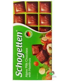 Шоколад Schogetten Alpine Milk Chocolate with Hazelnuts, 100 г