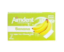 Жевательная резинка без сахара со вкусом банана Aimdent BANANA, 7 шт/уп