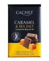 Шоколад Cachet молочный с соленой карамелью 32%, 300 г