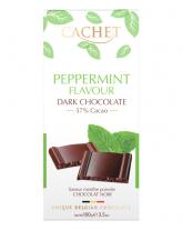 Шоколад Cachet черный с ароматом мяты 57%, 100 г