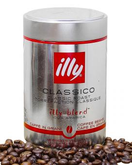 Кофе в зернах illy Whole Bean Classico 100% арабика, 250 г (ж/б)