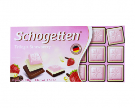 Шоколад Schogetten Trilogia Strawberry, 100 г