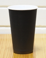 Стакан бумажный чёрный 400 мл, 50 шт
